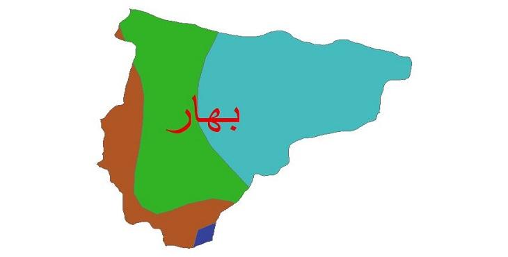 دانلود شیپ فایل اقلیمی شهرستان بهار