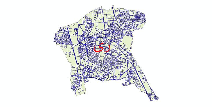 دانلود نقشه شیپ فایل شبکه معابر شهر ری سال 1399