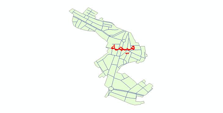 دانلود نقشه شیپ فایل شبکه معابر شهر میمه (ایلام) سال 1399