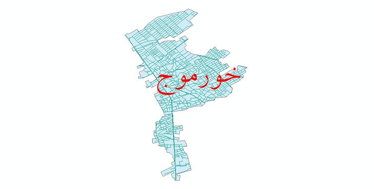 دانلود نقشه شیپ فایل شبکه معابر شهر خورموج سال 1399