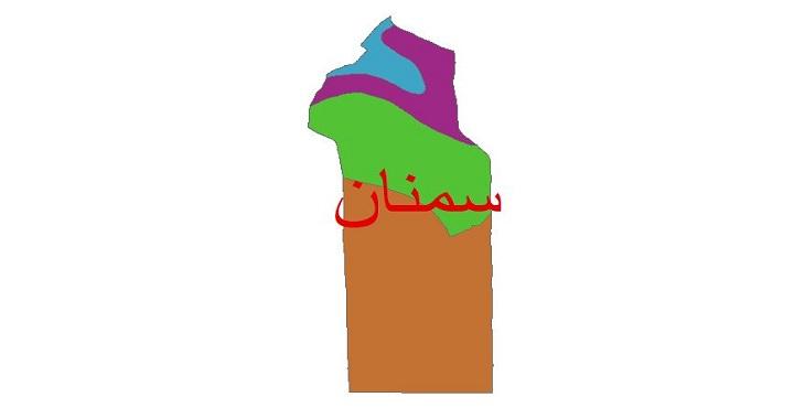 دانلود شیپ فایل اقلیمی شهرستان سمنان