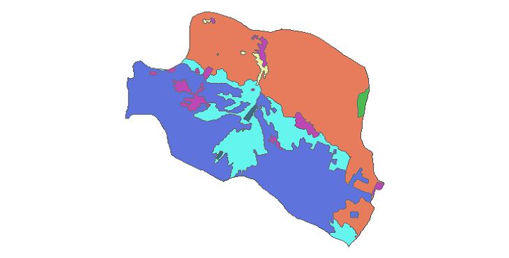 شیپ فایل کاربری اراضی شهرستان پاکدشت
