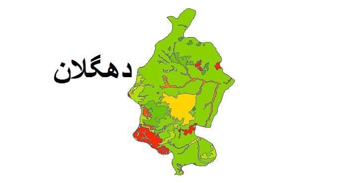 شیپ فایل کاربری اراضی شهرستان دهگلان