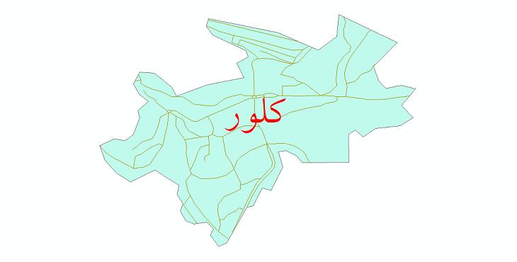 دانلود نقشه شیپ فایل شبکه معابر شهر کلور سال 1399
