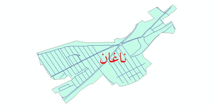 دانلود نقشه شیپ فایل شبکه معابر شهر ناغان سال 1399