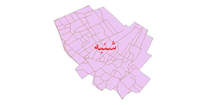 دانلود نقشه شیپ فایل شبکه معابر شهر شنبه سال 1399