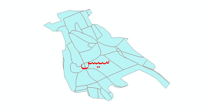 دانلود نقشه شیپ فایل شبکه معابر شهر سیس سال 1399