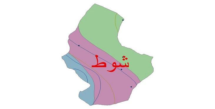 دانلود شیپ فایل اقلیمی شهرستان شوط