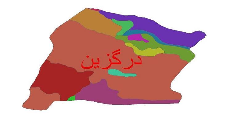 دانلود نقشه شیپ فایل زمین شناسی شهرستان درگزین