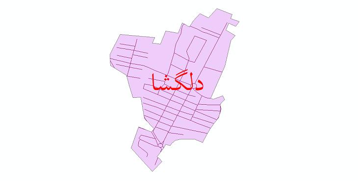 دانلود نقشه شیپ فایل شبکه معابر شهر دلگشا سال 1399