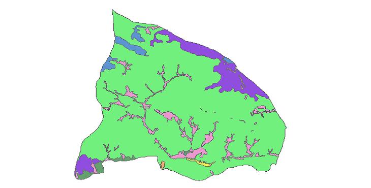 شیپ فایل کاربری اراضی شهرستان شمیرانات