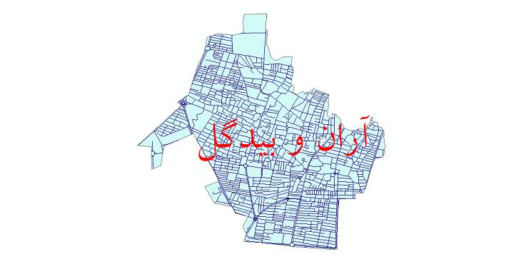 دانلود نقشه شیپ فایل شبکه معابر شهر آران و بیدگل سال 1399