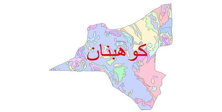 دانلود نقشه شیپ فایل زمین شناسی شهرستان کوهبنان