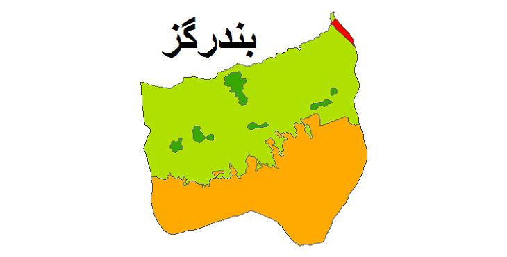 شیپ فایل کاربری اراضی شهرستان بندر گز