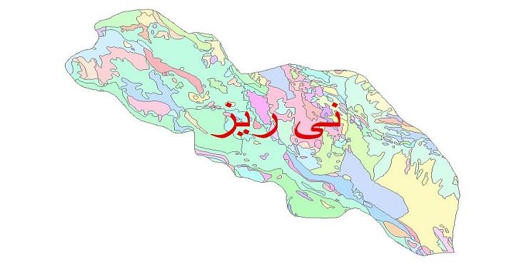 دانلود نقشه شیپ فایل زمین شناسی شهرستان نی ریز
