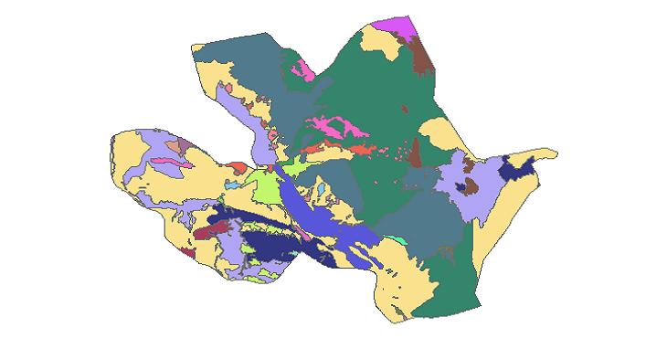 شیپ فایل کاربری اراضی شهرستان زیرکوه