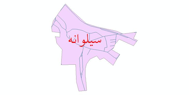 دانلود نقشه شیپ فایل شبکه معابر شهر سیلوانه سال 1399
