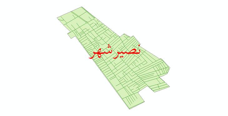 دانلود نقشه شیپ فایل شبکه معابر نصیرشهر سال 1399