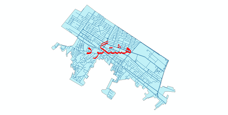 دانلود نقشه شیپ فایل شبکه معابر شهر هشتگرد سال 1399