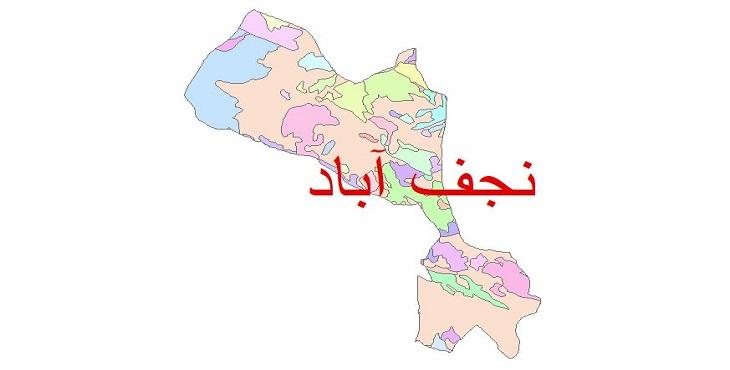 دانلود نقشه شیپ فایل زمین شناسی شهرستان نجف آباد