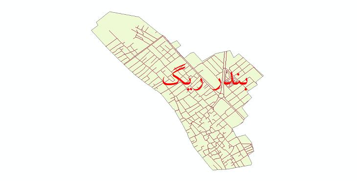 دانلود نقشه شیپ فایل شبکه معابر شهر بندر ریگ سال 1399