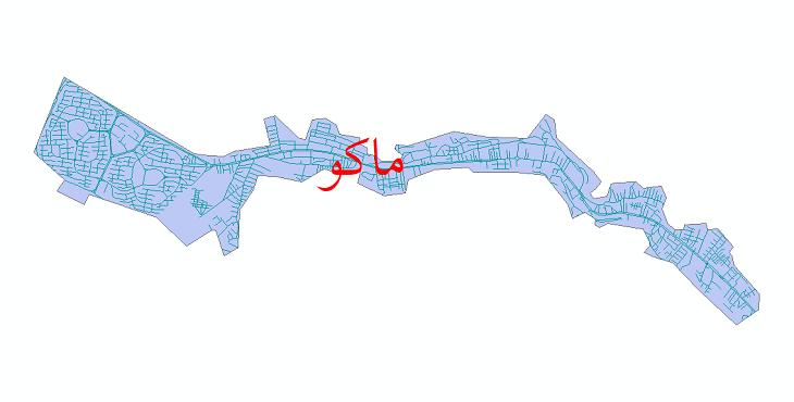 دانلود نقشه شیپ فایل شبکه معابر شهر ماکو سال 1399