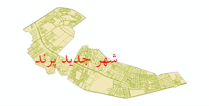 دانلود نقشه شیپ فایل شبکه معابر شهر جدید پرند سال 1399