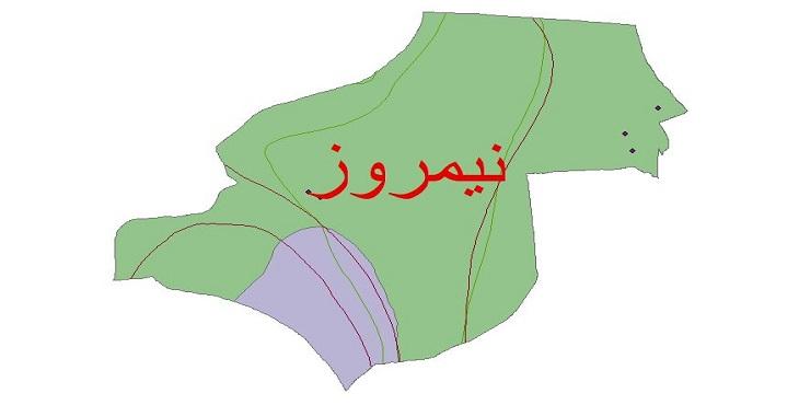 دانلود شیپ فایل اقلیمی شهرستان نیمروز