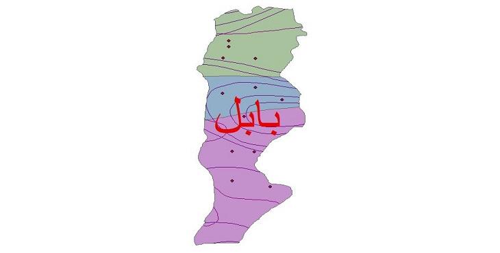 دانلود شیپ فایل اقلیمی شهرستان بابل