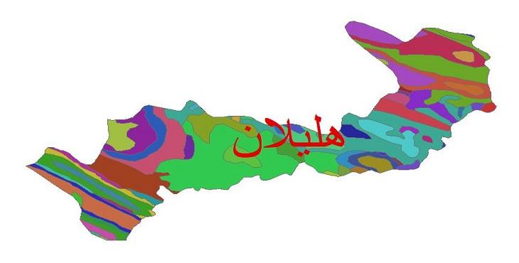 دانلود نقشه شیپ فایل زمین شناسی شهرستان هلیلان