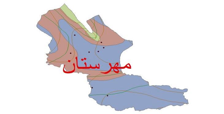 دانلود شیپ فایل اقلیمی شهرستان مهرستان