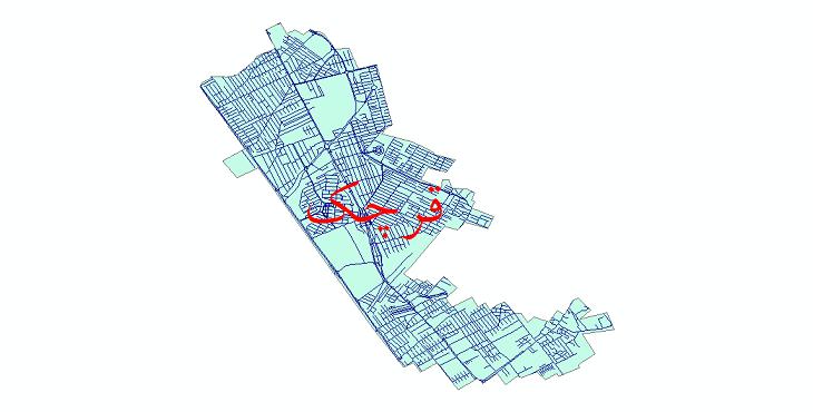 دانلود نقشه شیپ فایل شبکه معابر شهر قرچک سال 1399