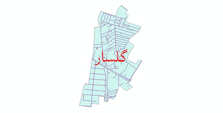 دانلود نقشه شیپ فایل شبکه معابر شهر گلسار سال 1399