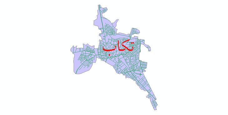 دانلود نقشه شیپ فایل شبکه معابر شهر تکاب سال 1399