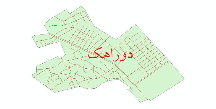 دانلود نقشه شیپ فایل شبکه معابر شهر دوراهک سال 1399