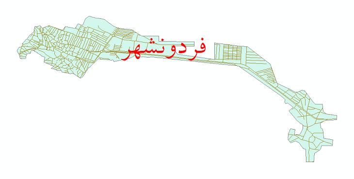 دانلود نقشه شیپ فایل شبکه معابر شهر فریدونشهر سال 1399