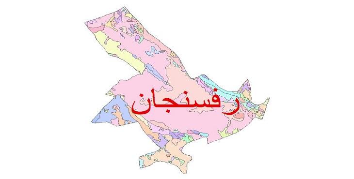 دانلود نقشه شیپ فایل زمین شناسی شهرستان رفسنجان