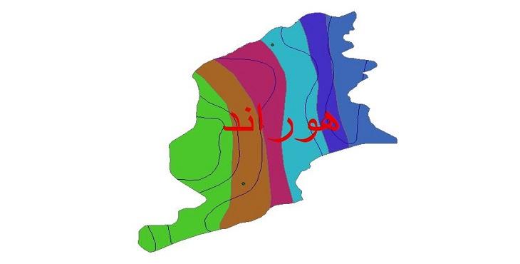 دانلود شیپ فایل اقلیمی شهرستان هوراند