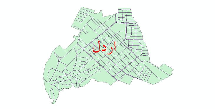 دانلود نقشه شیپ فایل شبکه معابر شهر اردل سال 1399