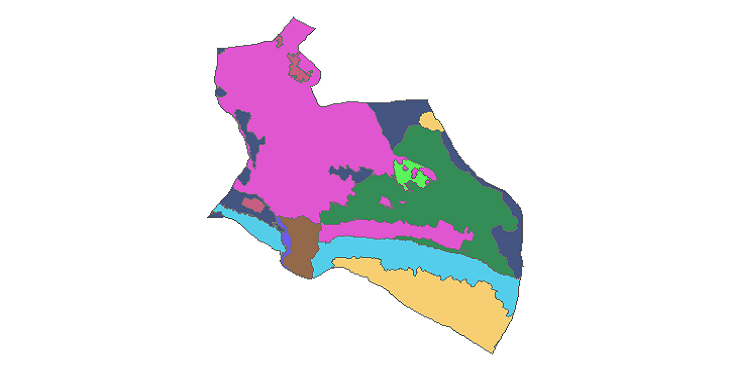 شیپ فایل کاربری اراضی شهرستان ورامین