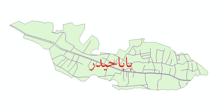 دانلود نقشه شیپ فایل شبکه معابر شهر باباحیدر سال 1399