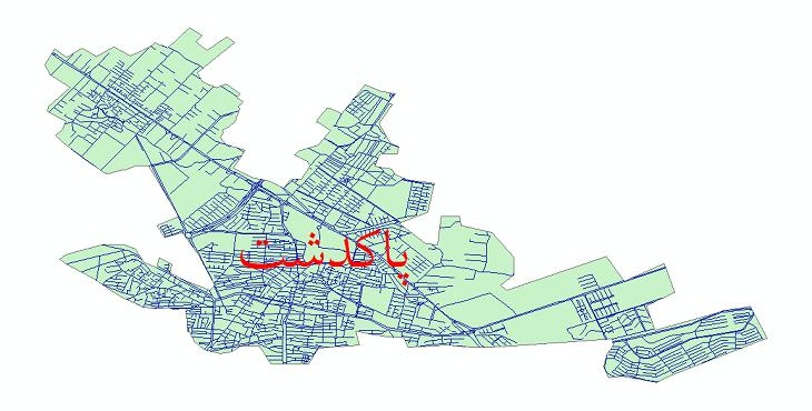 دانلود نقشه شیپ فایل شبکه معابر شهر پاکدشت سال 1399