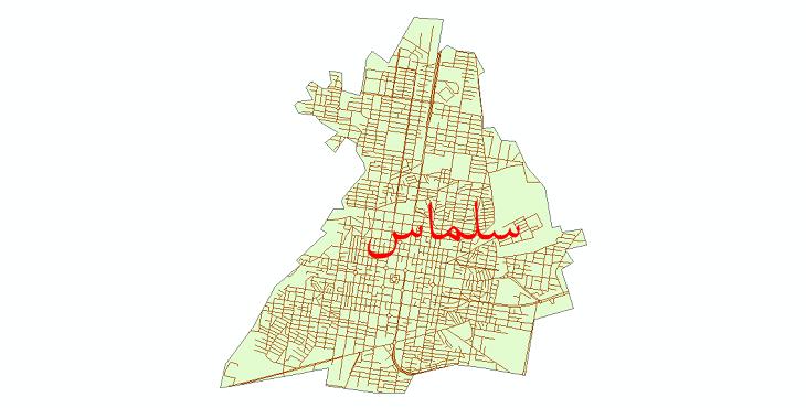 دانلود نقشه شیپ فایل شبکه معابر شهر سلماس سال 1399