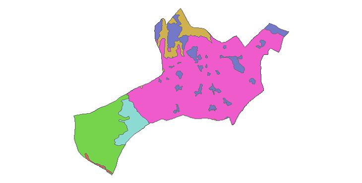 شیپ فایل کاربری اراضی شهرستان شهریار