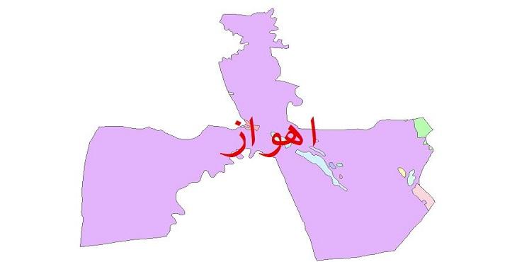 دانلود نقشه شیپ فایل زمین شناسی شهرستان اهواز