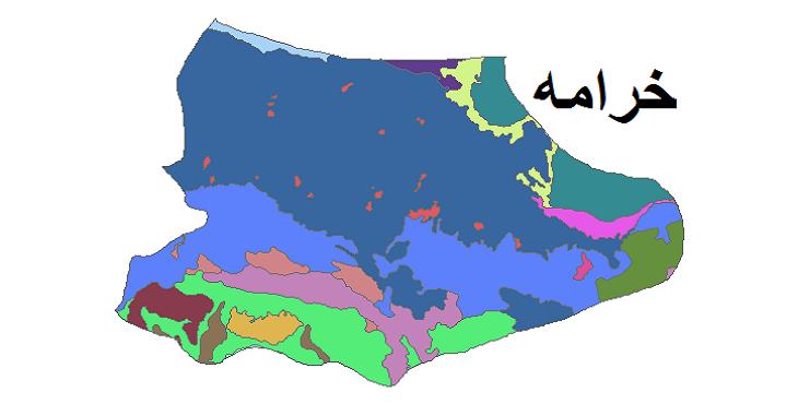 شیپ فایل کاربری اراضی شهرستان خرامه