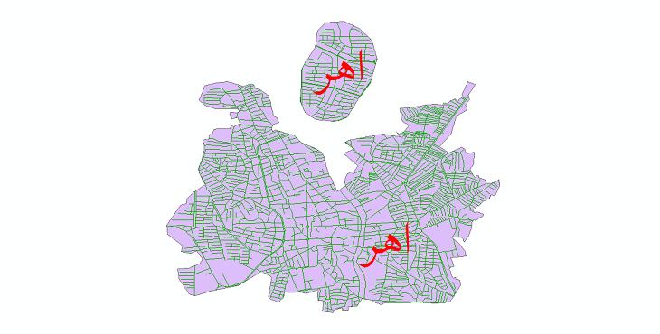 دانلود نقشه شیپ فایل شبکه معابر شهر اهر سال 1399