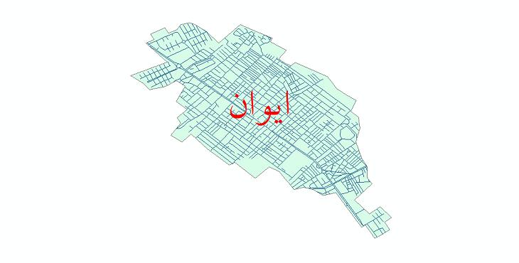 دانلود نقشه شیپ فایل شبکه معابر شهر ایوان سال 1399