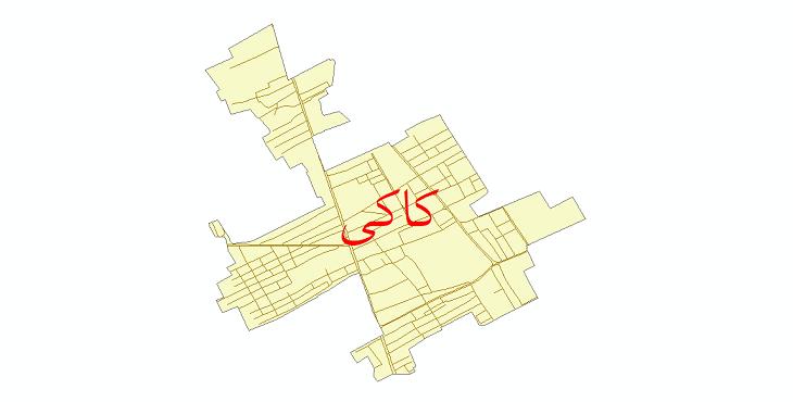 دانلود نقشه شیپ فایل شبکه معابر شهر کاکی سال 1399