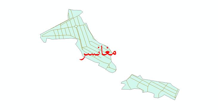 دانلود نقشه شیپ فایل شبکه معابر شهر مغانسر سال 1399